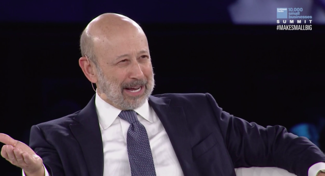 Lloyd Blankfein speaks at the Goldman Sachs 10,000 Small Business Summit.