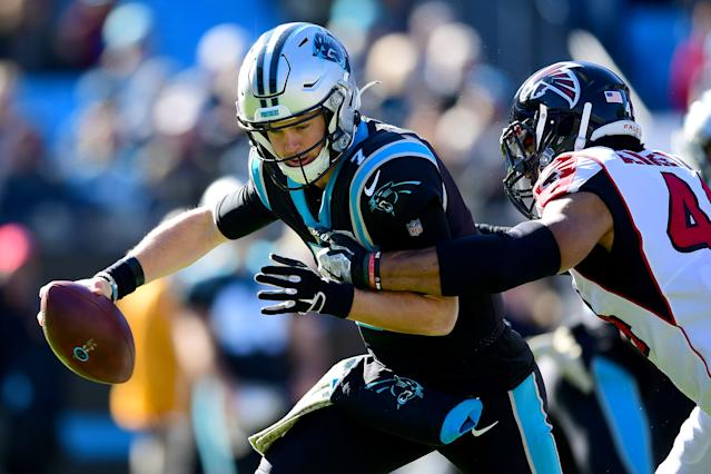 The Panthers need a quarterback change to keep their playoff hopes alive. (Jacob Kupferman/Getty Images)