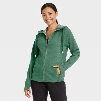 <p>This <span>All in Motion Fleece Full Zip Hooded Sweatshirt</span> ($19, originally $24) is so cozy and easy to layer.</p>
