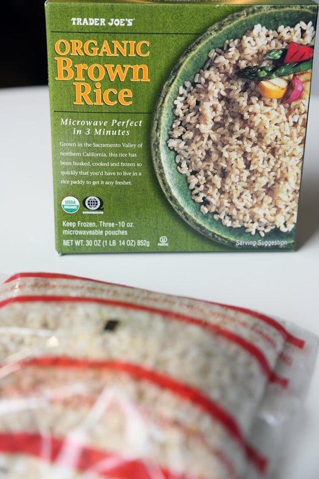 """<p>These practical packs of cooked brown rice are ready after just three minutes in the microwave, which means that making rice bowls can, in fact, be even easier. Take a whack at whipping up this <a href=""""https://www.cookingforkeeps.com/chinese-chicken-broccoli-stir-fry/"""" target=""""_blank"""" class=""""ga-track"""" data-ga-category=""""Related"""" data-ga-label=""""https://www.cookingforkeeps.com/chinese-chicken-broccoli-stir-fry/"""" data-ga-action=""""In-Line Links"""">chicken broccoli stir fry</a> - or perhaps this <a href=""""http://cookieandkate.com/2014/easy-brown-rice-risotto-with-mushrooms-and-fresh-oregano"""" target=""""_blank"""" class=""""ga-track"""" data-ga-category=""""Related"""" data-ga-label=""""http://cookieandkate.com/2014/easy-brown-rice-risotto-with-mushrooms-and-fresh-oregano"""" data-ga-action=""""In-Line Links"""">brown rice risotto with mushrooms and fresh oregano</a>.</p>"""