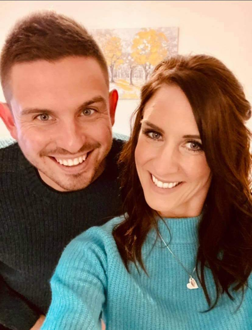 Faye Orton (right) and husband Ben experienced a 'silent' miscarriage after a successful round of IVF. (Supplied)