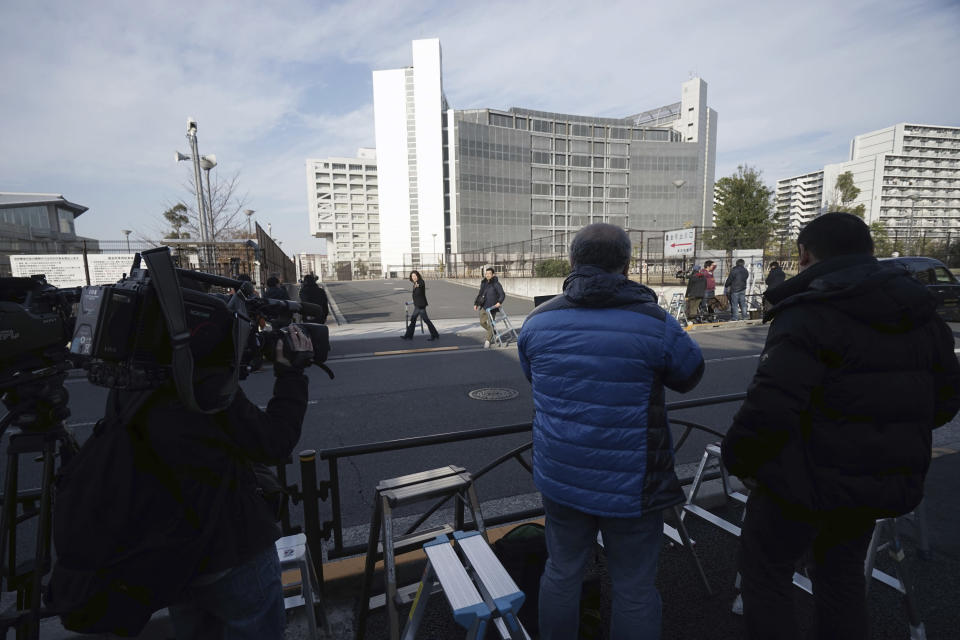 Tokyo Detention Center, where former Nissan chairman Carlos Ghosn and another former executive Greg Kelly, are being detained, stands in Tokyo Thursday, Dec. 20, 2018. A Japanese court denied prosecutors' request Thursday to extend detention of former Nissan chairman Carlos Ghosn. (AP Photo/Eugene Hoshiko)