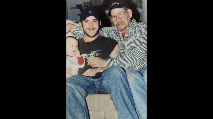 Joseph Williams, center, was one of the first American fatalities from the drug fentanyl, a scourge out of China.