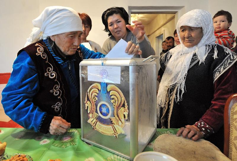 The last time Nazarbayev faced re-election in Kazakhstan in 2011, he claimed over 95 percent of the vote (AFP Photo/Vyacheslav Oseledko)