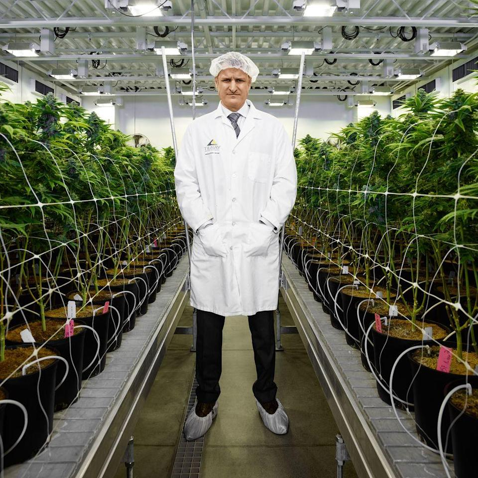 """Kennedy in Tilray's Nanaimo grow facility. """"It was inevitable the U.S. would legalize,"""" Kennedy says. """"The frustrating part was, how did everyone else not see it?"""""""