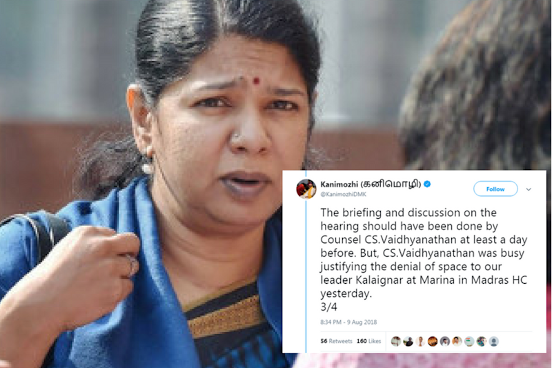 'You Were Busy Denying Marina Space to Kalaignar': Kanimozhi Taunts EPS Govt on Sterlite Plant Setback