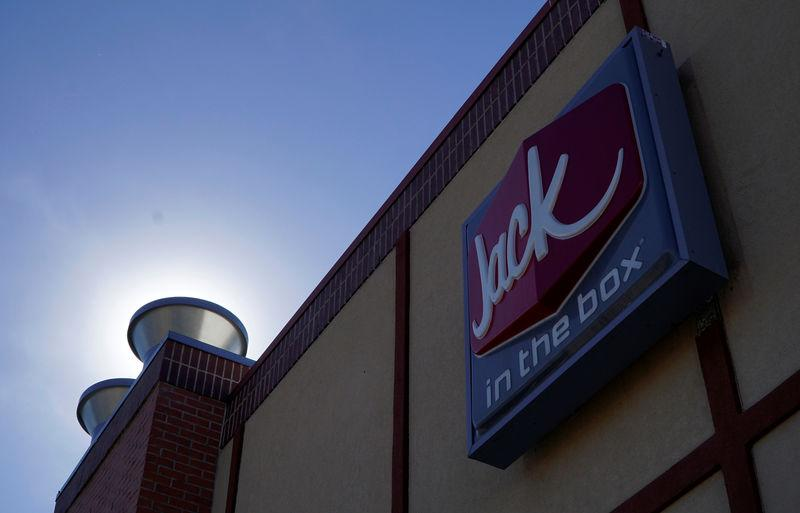 The sign outside the Jack in the Box in Westminster