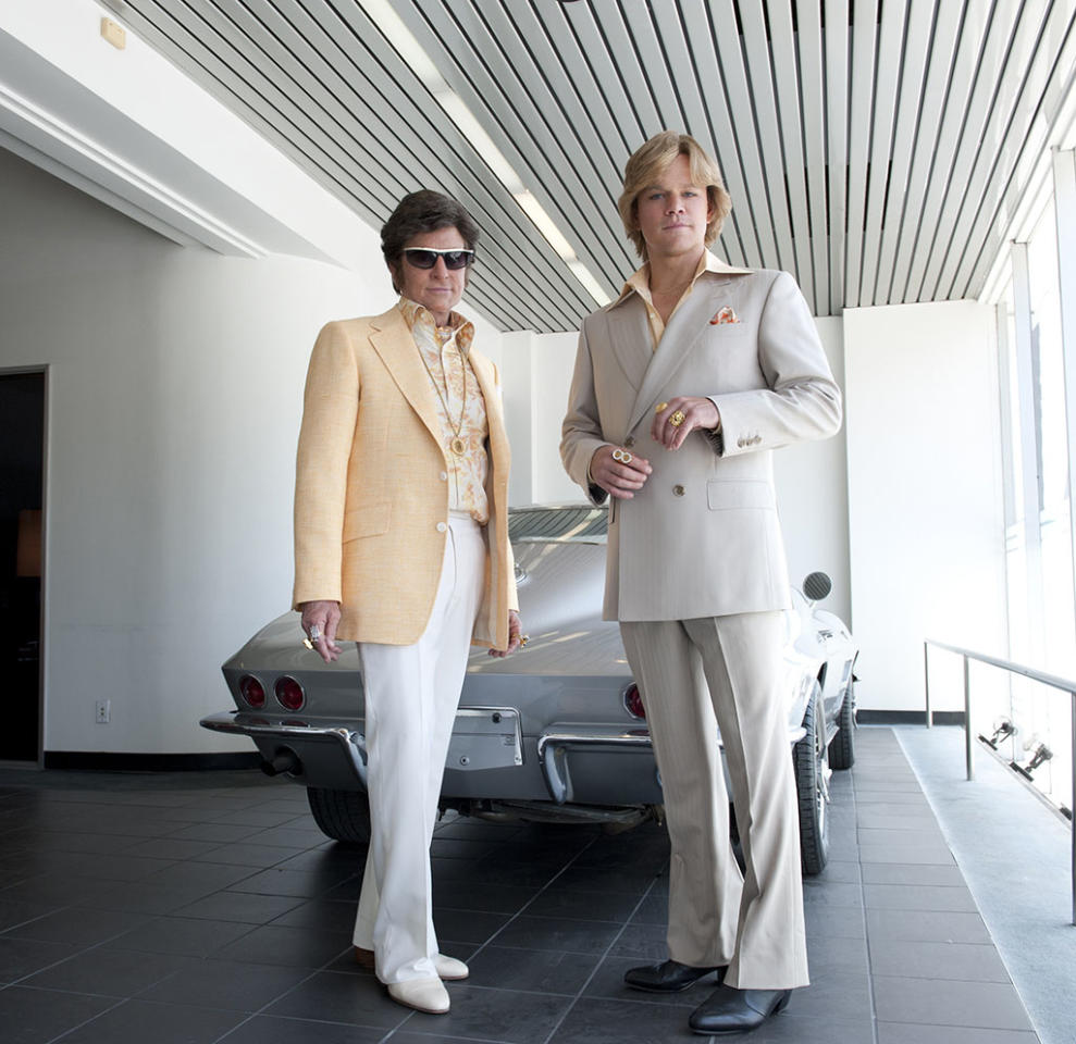 Michael Douglas as Liberace and Matt Damon as Scott Thorson. photo: Claudette Barius/HBO