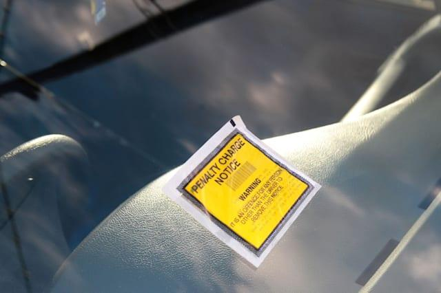 BRF7XY parking ticket,penalty charge notice