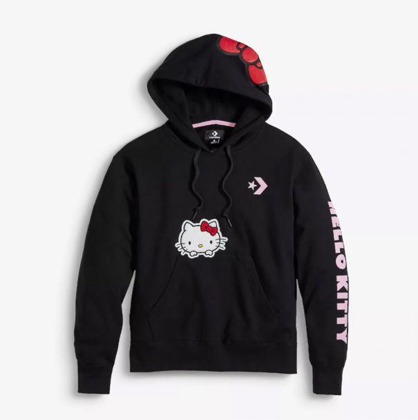 PHOTO: This black Hello Kitty Converse hoodie is the perfect pullover. (Converse)