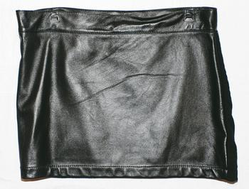 black leather skirt $3,099