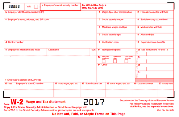 A Quick Guide To Your W 2 Tax Form