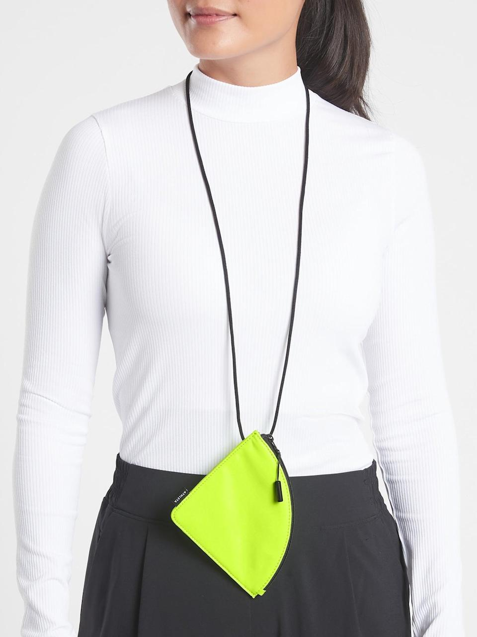 <p>Instead of hanging your mask at your chin or on your wrists, this <span>Athleta Mask Bag</span> ($15) keeps it safe and clean.</p>