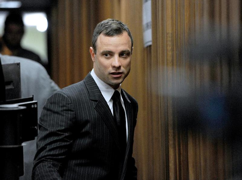South African paralympian Oscar Pistorius arrives at the High Court in Pretoria for his trial on July 2, 2014