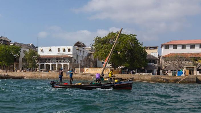 A dhow near Lamu Old Town