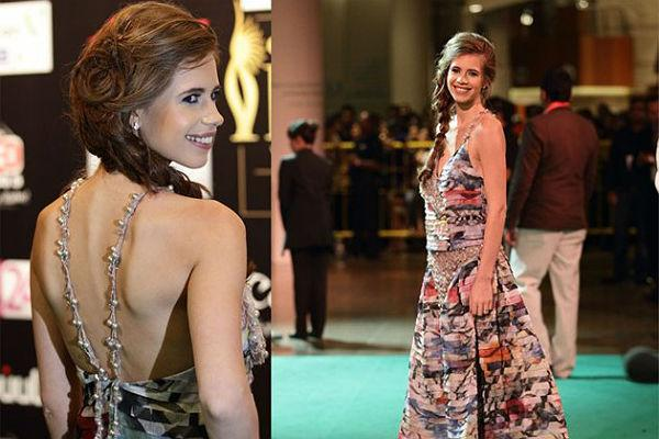 """<p class=""""MsoNormal""""><strong style="""""""">Kalki Koechlin:</b> <br>Flaunting her back in the choli like top and skirt, Kalki manages to grab enough and more attention with her fashion sense. The chic braid gives a Bohemian-inspired look that goes well with her outfit.</p>"""