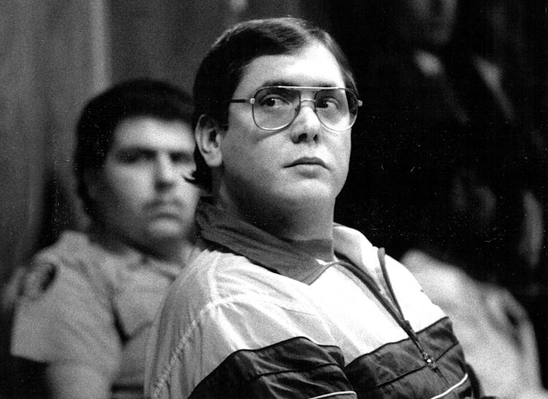 FILE- In this 1988, file photo, Manuel Pardo, found guilty of nine counts of murder, listens as his sentence is read. Pardo, 56, is scheduled to be executed Tuesday, Dec. 11, 2012, at Florida State Prison in Starke, Fla. U.S. Judge Timothy Corrigan denied Pardo's request for a stay on Monday. (AP Photo/The Miami Herald, Marice Cohn Band, File)