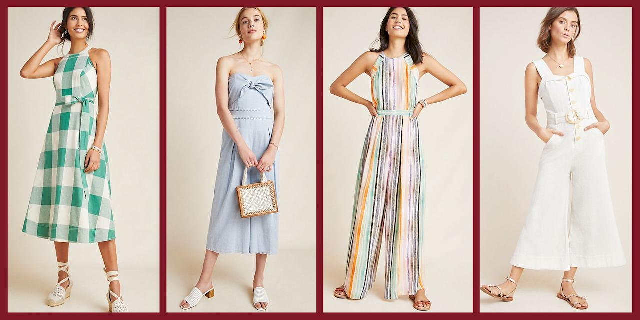 "<p>If the dog days of summer have got you craving some stylish new options to fend off the heat, you're in luck! From now through Sunday, <a href=""https://www.anthropologie.com/"" target=""_blank"">Anthropologie</a> is offering a special sale-on-sale with an <strong>additional 50 percent off</strong> of already on sale items including those chic jumpsuits everyone has been sporting this season, as well as breezy tops, dresses, and cute-but-casual accessories. </p><p>Below we've rounded up the options that will be making their way into our carts this weekend, then <a href=""https://www.anthropologie.com/"" target=""_blank"">check out the full sale on Anthropologie</a>. </p>"