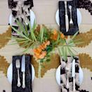 """<p>yoursustainablehome.com</p><p><strong>$49.00</strong></p><p><a href=""""https://yoursustainablehome.com/collections/kitchen/products/ichcha-black-and-beige-mix-match-napkins"""" rel=""""nofollow noopener"""" target=""""_blank"""" data-ylk=""""slk:BUY NOW"""" class=""""link rapid-noclick-resp"""">BUY NOW</a></p><p>Mismatched but still coordinated napkins give a little more personality to the table. </p>"""