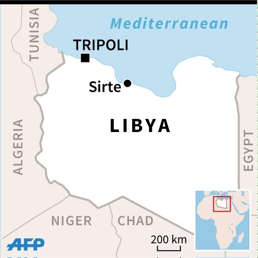 US air strikes hit about 160 kilometers (100 miles) southeast of the Mediterranean city of Sirte, AFRICOM said in a statement