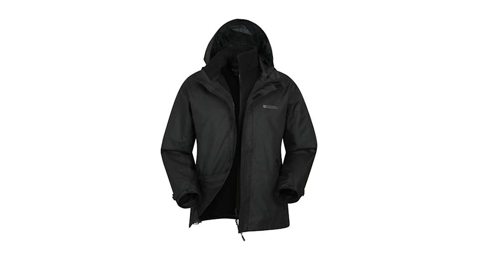 Mountain Warehouse Mens 3 in 1 Water Resistant Jacket