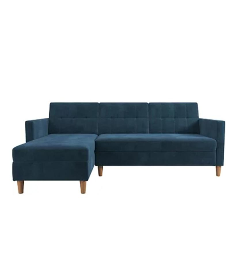 """<p>If you're short on space, this sectional doubles as a place for guests to sleep, too, thanks to its multi-position back and interchangeable chaise. To sweeten the deal, this sectional sofa even has a storage compartment built-in to stash your favorite board games or extra blankets. Available in four colors, this sectional's clean lines and sophisticated tufted back fits with a variety of styles, while the price is easy on your wallet.</p> <p><strong>To buy: </strong>$516 (originally $969), <a href=""""http://www.anrdoezrs.net/links/7876406/type/dlg/sid/RS%2CBestSectionalSofasforEveryBudget%2Ckholdefehr1271%2CDEC%2CIMA%2C657254%2C201909%2CI/https://www.wayfair.com/furniture/pdp/zipcode-design-hephzibah-reversible-sectional-futon-w001024051.html?piid=953192645"""" target=""""_blank"""">wayfair.com</a>. </p>"""