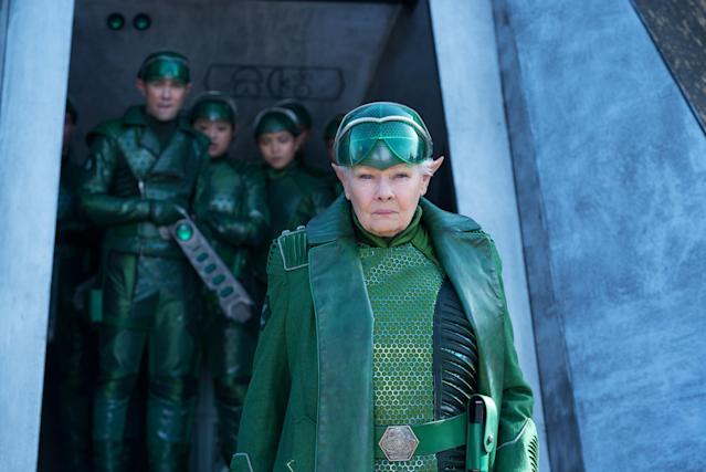 Judi Dench is Commander Root in Disney's ARTEMIS FOWL. (Disney)