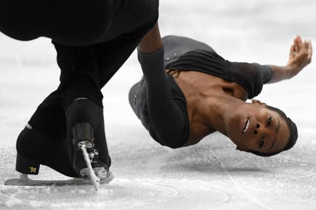 Vanessa James, shown in this 2019 file photo, had formerly competed in pairs skating while representing France, winning six French national titles, a 2019 European title, a 2018 world bronze medal and a fifth-place finish at the 2018 Pyeongchang Olympics.