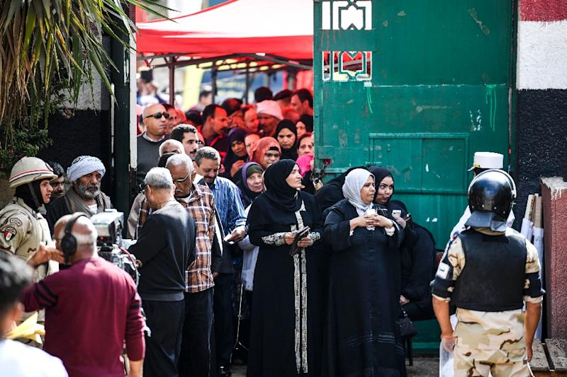 Despite protests from rights groups, the three-day plebiscite is expected to approve sweeping constitutional changes that will extend Sisi's term until at least 2024 (AFP Photo/Khaled DESOUKI)