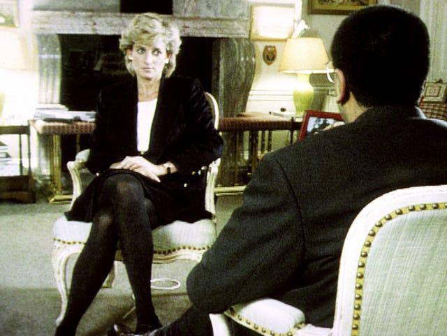 Diana during her interview with Martin Bashir (BBC screen grab/PA)