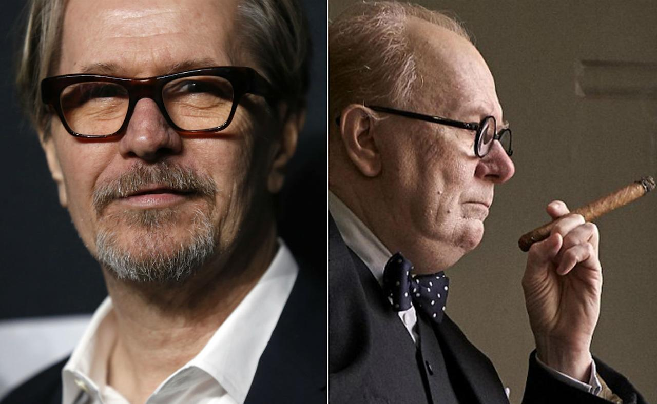 <p>An astonishing transformation for Gary Oldman into British wartime PM Winston Churchill. </p>