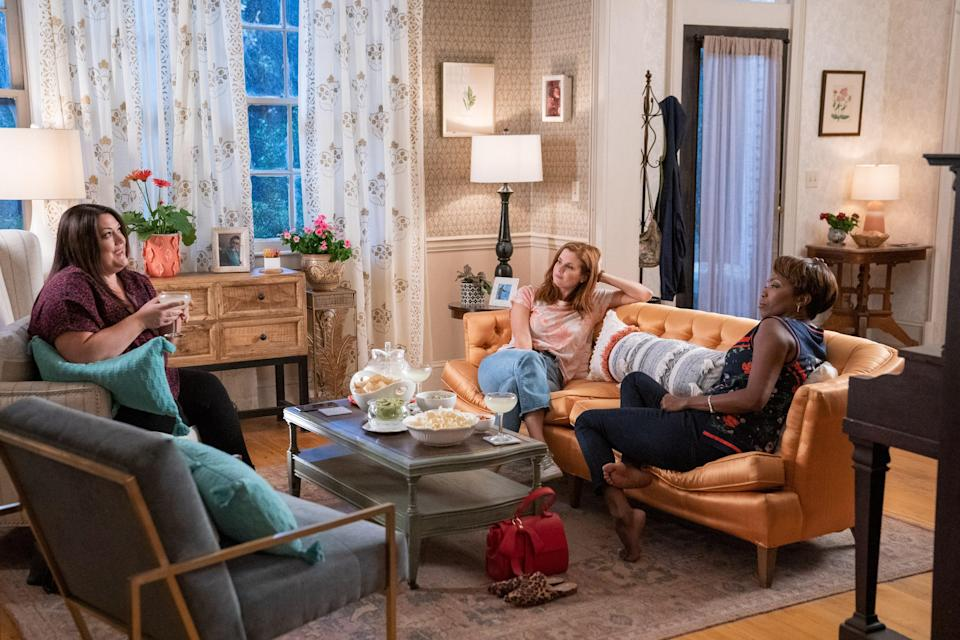 """<p>Described as <a href=""""https://www.nbcchicago.com/chicago-today-2/sweet-magnolias-star-heather-headley-talks-success-of-show-filming-with-a-newborn/2285079/"""" rel=""""nofollow noopener"""" target=""""_blank"""" data-ylk=""""slk:""""a sweet escape,"""""""" class=""""link rapid-noclick-resp"""">""""a sweet escape,""""</a> <a href=""""https://ew.com/tv/justin-bruening-sweet-magnolias-greys-anatomy/"""" rel=""""nofollow noopener"""" target=""""_blank"""" data-ylk=""""slk:""""a romantic hit,"""""""" class=""""link rapid-noclick-resp"""">""""a romantic hit,""""</a> and """"<a href=""""https://www.popsugar.com/entertainment/movies-tv-shows-like-sweet-magnolias-on-netflix-47490553"""" rel=""""nofollow noopener"""" target=""""_blank"""" data-ylk=""""slk:as refreshing as a glass of sweet tea"""" class=""""link rapid-noclick-resp"""">as refreshing as a glass of sweet tea</a> on a hot Southern day,"""" <a href=""""https://www.glamour.com/story/netflix-sweet-magnolias-review?mbid=synd_yahoo_rss"""" rel=""""nofollow noopener"""" target=""""_blank"""" data-ylk=""""slk:Sweet Magnolias"""" class=""""link rapid-noclick-resp""""><em>Sweet Magnolias</em></a> was a <a href=""""https://www.glamour.com/story/how-netflix-sweet-magnolias-became-surprise-hit-of-the-summer?mbid=synd_yahoo_rss"""" rel=""""nofollow noopener"""" target=""""_blank"""" data-ylk=""""slk:massive hit"""" class=""""link rapid-noclick-resp"""">massive hit</a> in the summer of 2020. While quarantined at home, viewers couldn't help but find virtual friends in Maddie Townsend, Dana Sue Sullivan, and Helen Decatur. </p> <p><a href=""""https://cna.st/affiliate-link/3m18KYZScRhcLgCMSsNGYi9NN7XdmEUXAN4hxBLjjJ2UwanRUsBHuHLy3PKdtAdYfR4WzDzrSq7AfYXDrzyRGsyadf7Xbw9GbbUjksikx73cDtS9akhdZR1gGg2pNZ?cid=60b4feaf570415de342f5586"""" rel=""""nofollow noopener"""" target=""""_blank"""" data-ylk=""""slk:Available to stream on Netflix"""" class=""""link rapid-noclick-resp""""><em>Available to stream on Netflix</em></a></p>"""