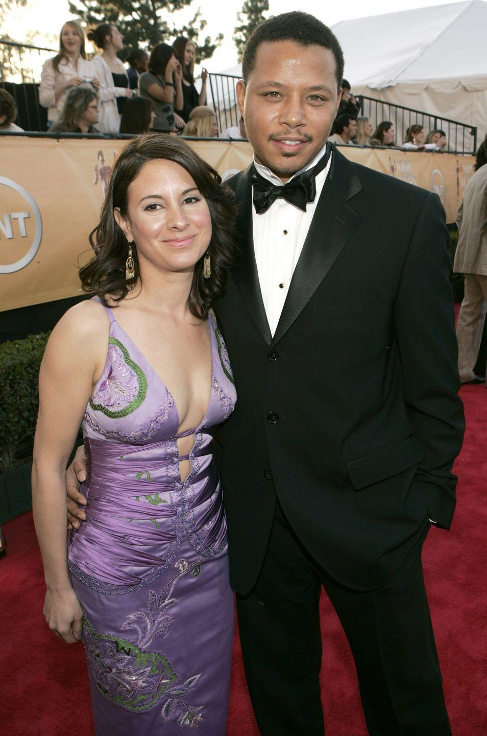 """<p>Terrence Howard and Lori McCommas <a href=""""https://eu.usatoday.com/story/life/people/2018/12/25/terrance-howard-proposes-ex-wife-mira-pak-years-after-they-divorced/2411922002/"""" rel=""""nofollow noopener"""" target=""""_blank"""" data-ylk=""""slk:first got married in 1989"""" class=""""link rapid-noclick-resp"""">first got married in 1989</a>, but divorced in 2003. The actor later reconciled with his ex-wife and the two tied the knot again in 2005. Their second union only lasted two years, and they divorced in 2007.</p>"""