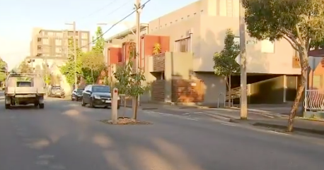 The tree on Mater Street in Collingwood has reportedly caused problems in the area among motorists and cyclists alike. Source: Channel 9