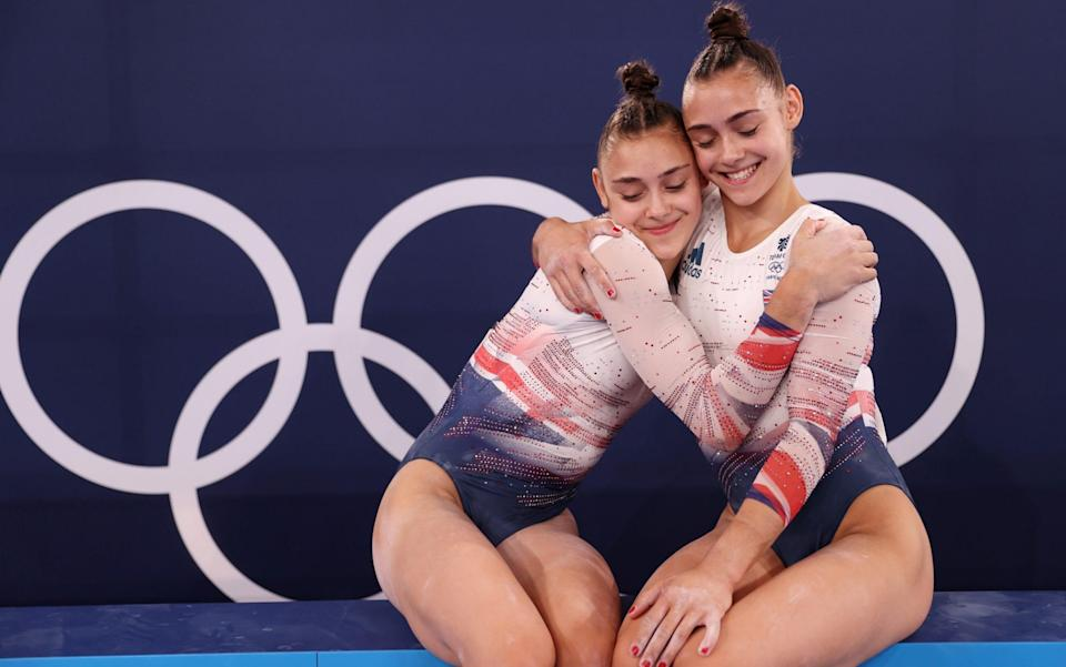 Jessica and Jennifer Gadirova are both competing in the floor final - Getty Images