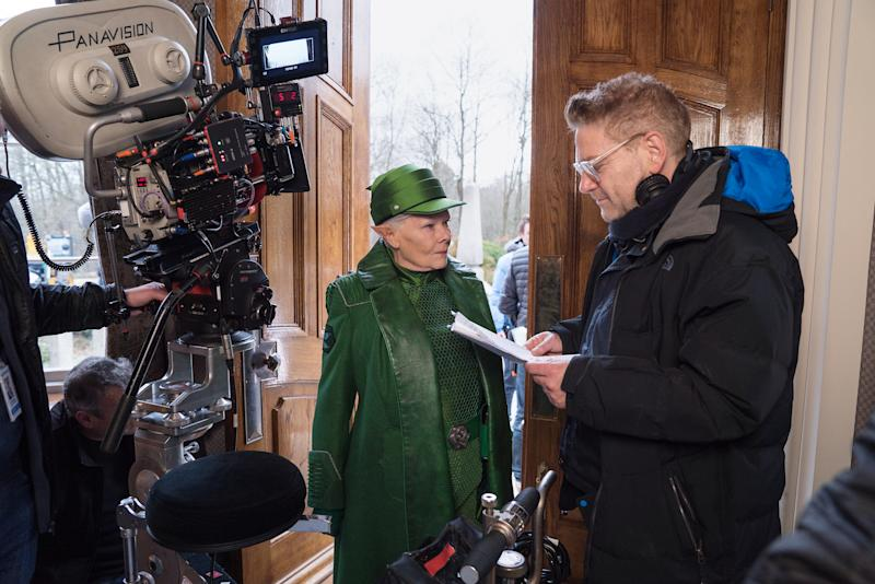 Judy Dench and Kenneth Branagh on the set of Disney's ARTEMIS FOWL.