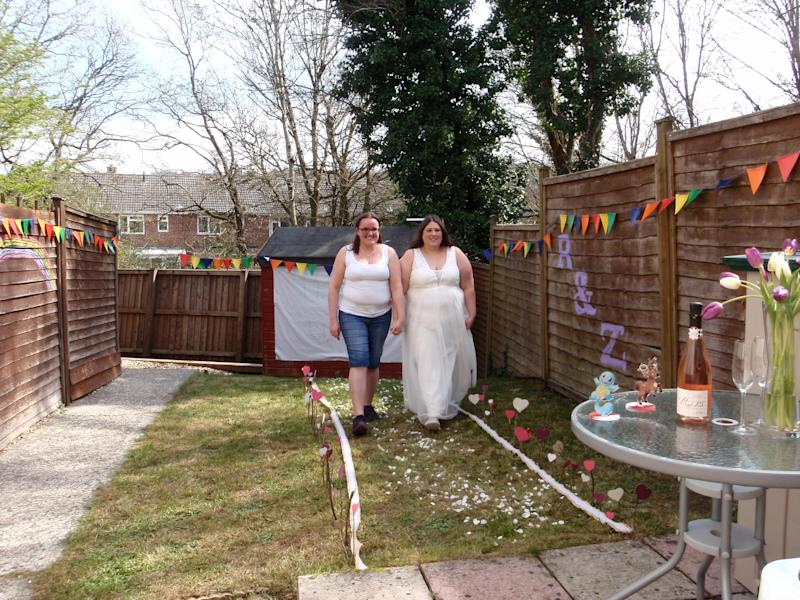 The couple had no choice but to get married on the date they set. (SWNS)