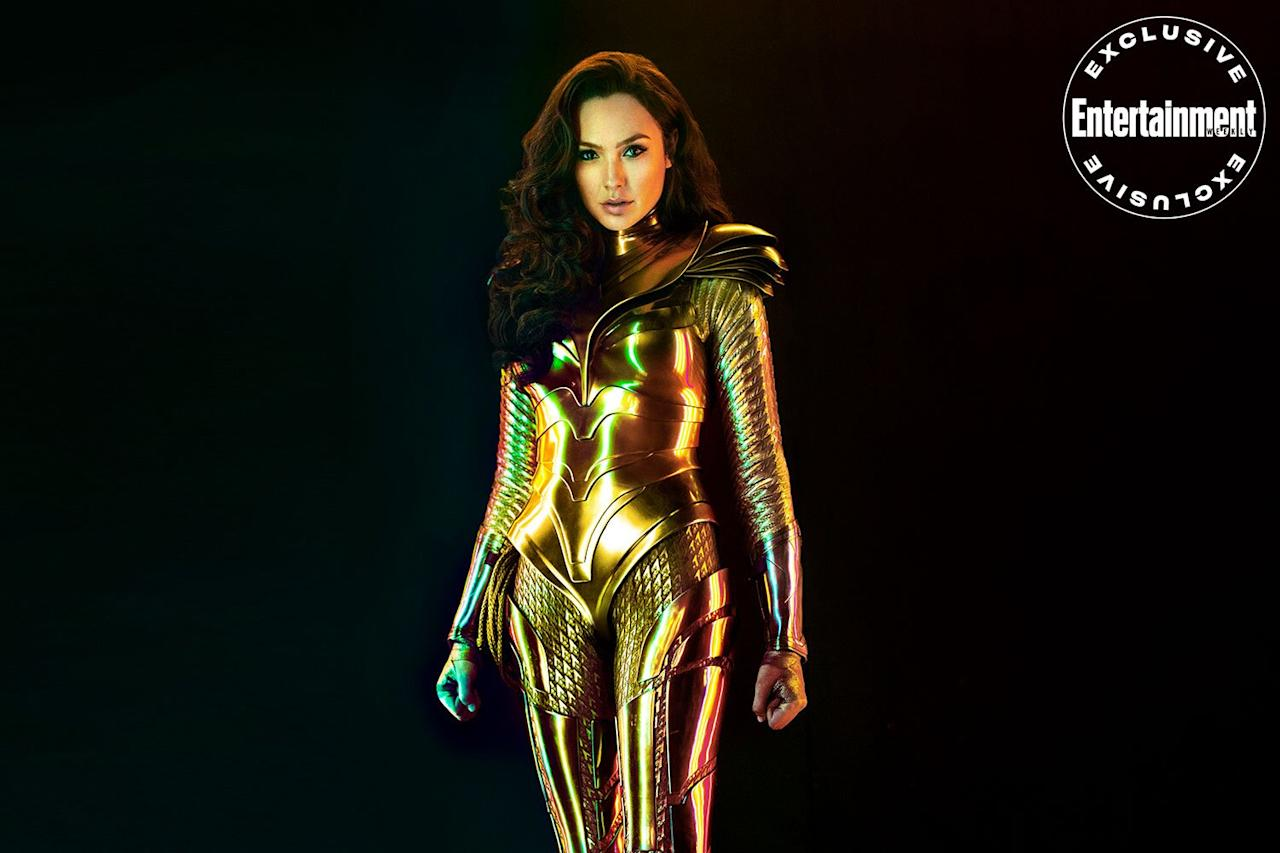 """<a href=""""https://ew.com/movies/2020/02/11/gal-gadot-wonder-woman-1984-cover""""><em>Wonder Woman 1984 </em></a>takes <a href=""""https://ew.com/tag/gal-gadot/"""">Gal Gadot</a>'s demigoddess from WWI to totally tubular — and when it comes to armor, she's getting her platinum card. Click through to see more exclusive images from the sequel."""