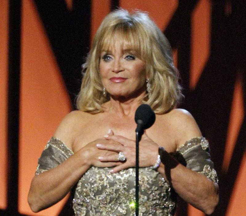 FILE - This Nov. 11, 2009 file photo shows recording artist Barbara Mandrell at the 43rd Annual Country Music Awards in Nashville, Tenn. The Musicians Hall of Fame inducted 12 new members, Tuesday, Jan. 28, 2014, across the genres, including bluesman Buddy Guy, British rock guitarist Peter Frampton and pedal steel player and country singer Barbara Mandrell. (AP Photo/Mark Humphrey, File)
