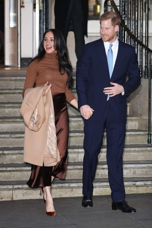 Meghan Markle and Prince Harry at canada house