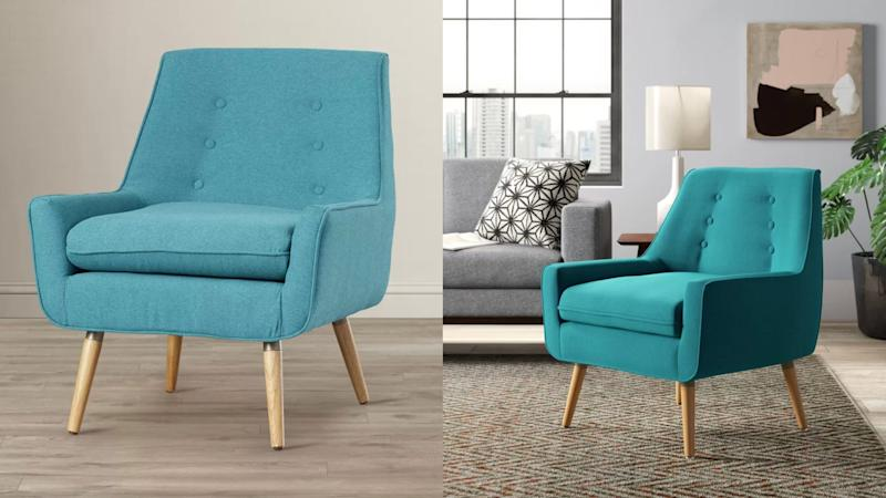 A colorful side chair is an easy way to refresh any room.