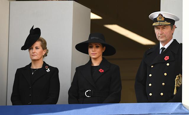 The Countess of Wessex, the Duchess of Sussex and Vice Admiral Sir Timothy Laurence also attended the service (Picture: PA)