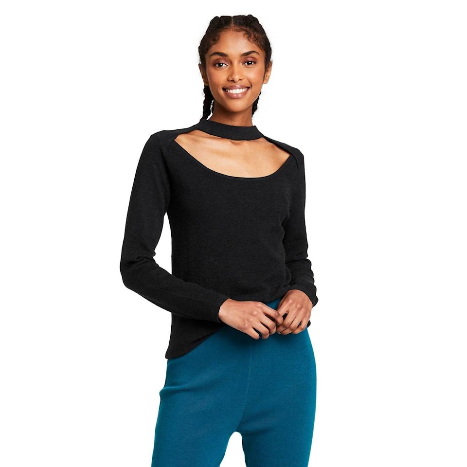 <p>Is it just us or is the peek-a-boo front on this <span>Victor Glemaud x Target Women's Cutout Crewneck Sweater</span> ($40), the perfect place to show off your favorite necklace?</p>