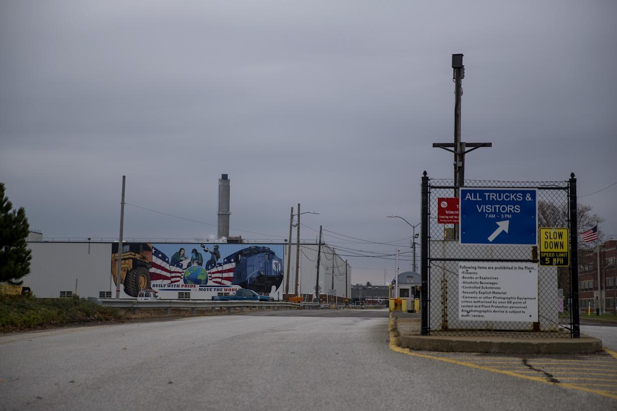 The GE plant in Erie, Pa. (Photo: Eric Thayer for Yahoo News)