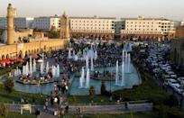 Arbil, the capital of the autonomous Kurdish region of northern Iraq