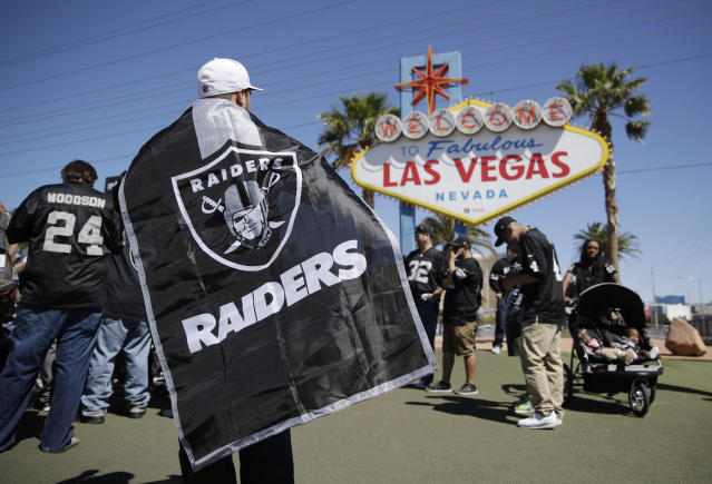 The Raiders have now officially moved from Oakland to Las Vegas. (AP/John Locher)