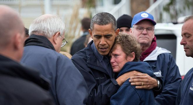 Obama's Approval Rises In Superstorm Sandy's Wake