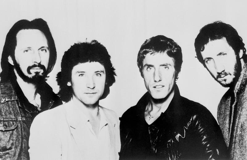 Members of the rock band The Who (from l-r) John Entwistle, Kenney Jones, Roger Daltrey and Pete Townshend. At least 11 young people were trampled or smothered to death today as thousands of rock fans rushed to grab the best seats at a concert given by the band in Cincinatti, Ohio.