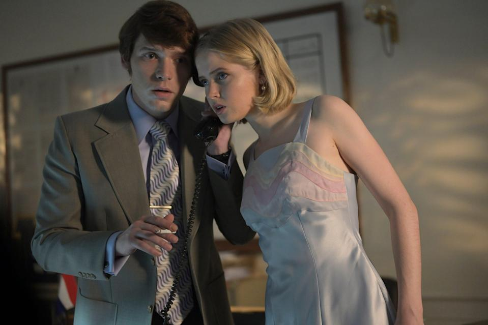 """Herman Knippenberg (Billy Howle) and Angela Knippenberg (Ellie Bamber) in """"The Serpent."""""""