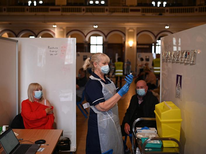 The UK has delivered more than 50 million doses of Covid-19 vaccines to date (AFP via Getty Images)
